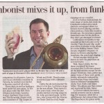Nick La Riviere - Times Colonist - 2015 CD Release big article
